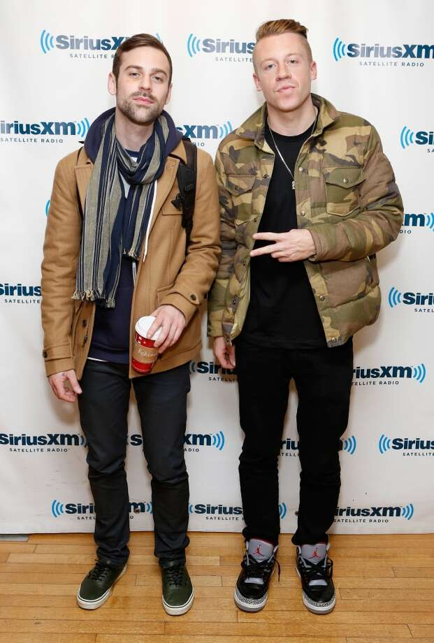NEW YORK, NY - NOVEMBER 20:  Ryan Lewis and Macklemore visit the SiriusXM Studios on November 20, 2012 in New York City.  (Photo by Cindy Ord/Getty Images)