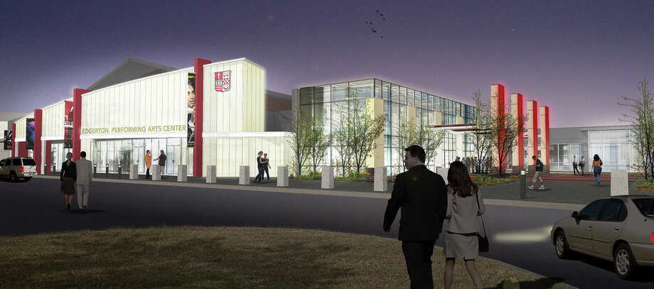 Above is a rendering of Sacred Heart University's Edgerton Center for the Performing Arts following a renovation and expansion project, expected to be completed later this year. Photo: Contributed, Contributed Photo / connecticut post contributed