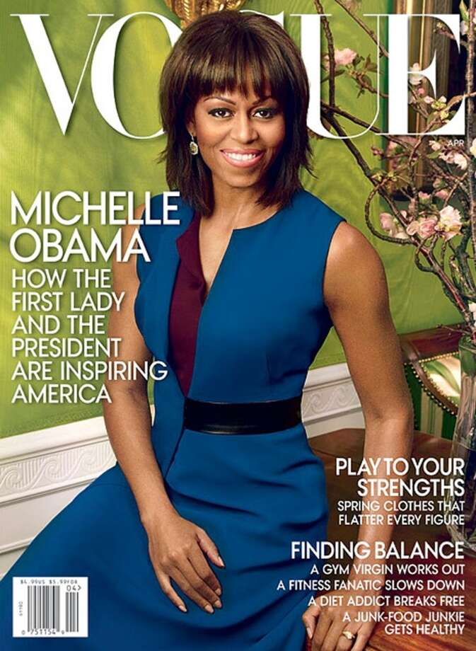 First Lady Michelle Obama on the cover of Vogue's April 2013 issue.