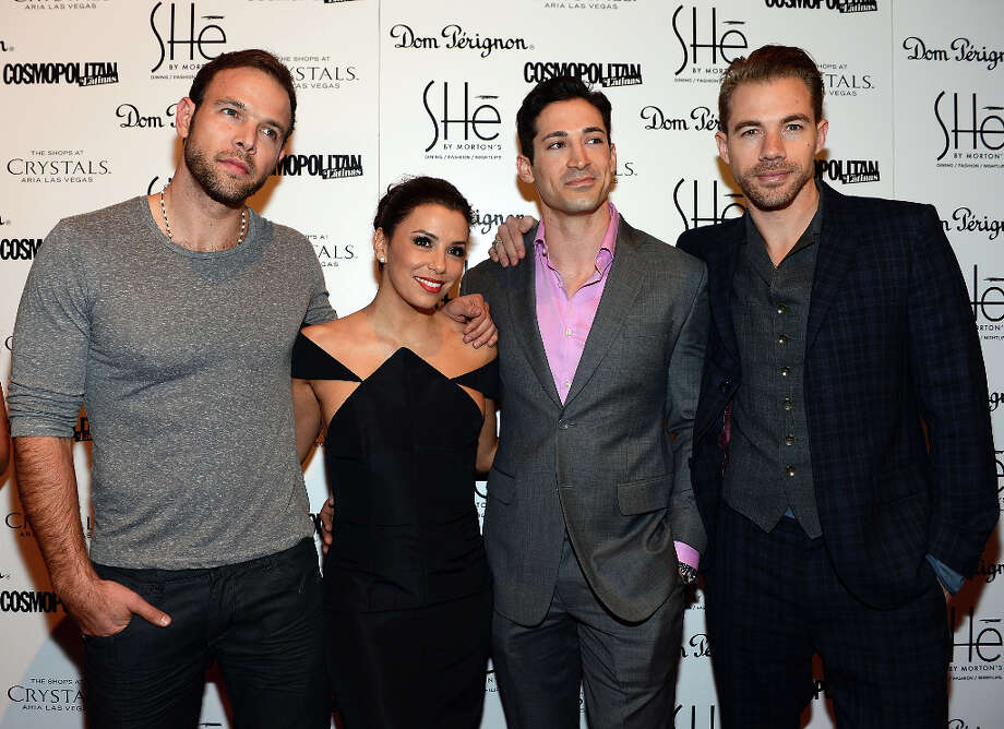 LAS VEGAS, NV - FEBRUARY 02:  Eva Longoria (2nd from L) arrives at the grand opening of SHe by Morton's at Crystals at CityCenter on February 2, 2013 in Las Vegas, Nevada. Photo: Denise Truscello, WireImage / 2013 Denise Truscello