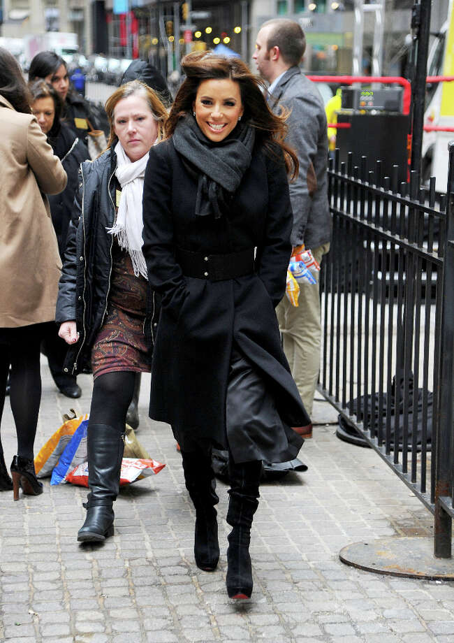 NEW YORK, NY - FEBRUARY 12:  Eva Longoria is seen out in Manhattan on February 12, 2013 in New York City. Photo: Josiah Kamau, BuzzFoto/FilmMagic / 2013 BuzzFoto