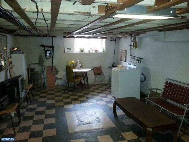 "Basement of the Philadelphia house that Rocky Balboa bought in ""Rocky II."" It's listed for sale for $139,900. Photo: Courtesy Joe Bianco/Alpha Realty Group"