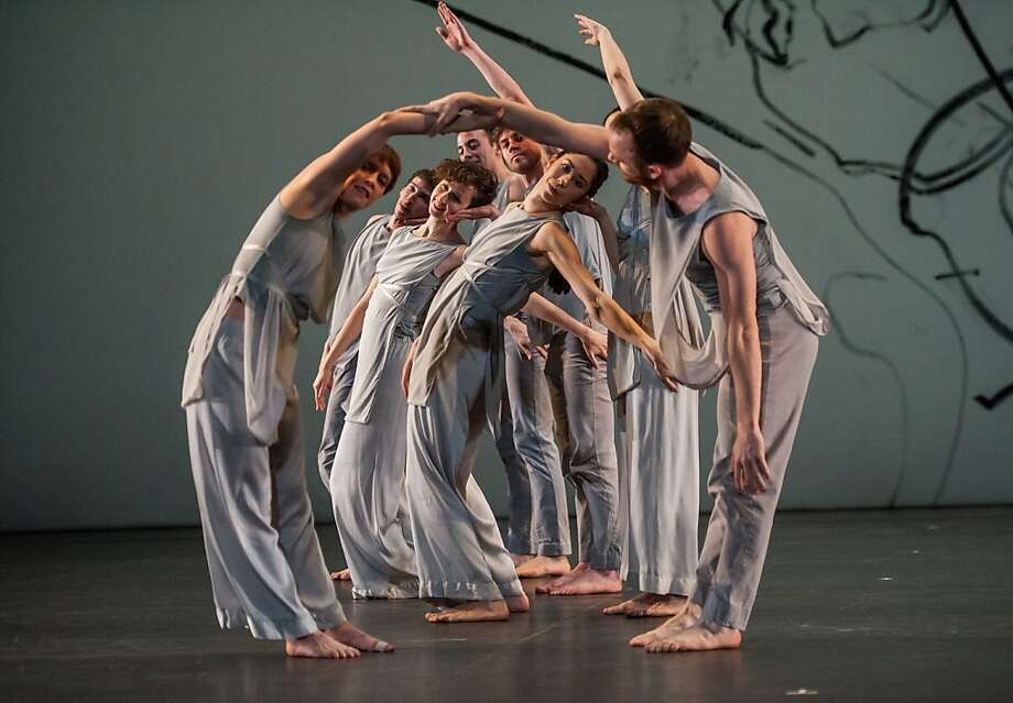 """Members of the Trisha Brown Dance Company in """"Les Yeux et l'Ame,"""" in which Brown is at her sweetest and most tender. Photo: Stephanie Berger, Trisha Brown Dance Company"""