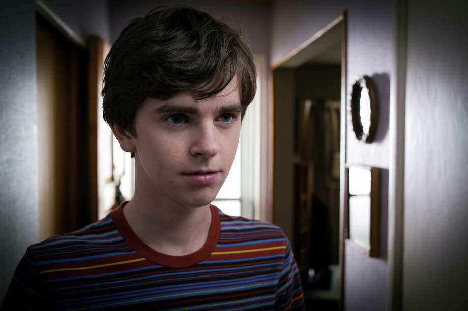 "Freddie Highmore as Norman Bates in A&E's ""Bates Motel"" coming in March 2013.  Photo by Joe Lederer"