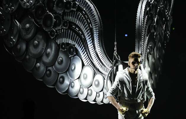 Canadian singer Justin Bieber performs live in concert at Palacio de los Deportes de Madrid on March 14, 2013. Photo: Curto De La Torre, AFP/Getty Images