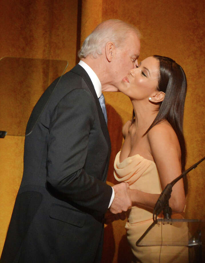 WASHINGTON, DC - JANUARY 20:  Actress Eva Longoria greets U.S. Vice President Joe Biden at Latino Inaugural 2013: In Performance at Kennedy Center at The Kennedy Center on January 20, 2013 in Washington, DC. Photo: Rick Diamond / 2013 Getty Images