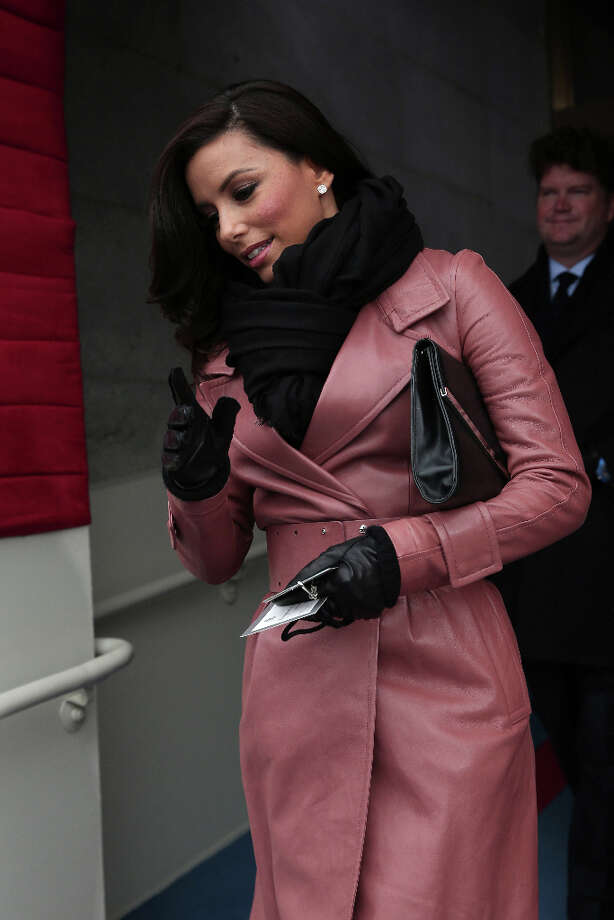 Actress Eva Longoria arrives for the presidential inauguration on the West Front of the US Capitol January 21, 2013 in Washington, DC.   Barack Obama was re-elected for a second term as President of the United States.     AFP PHOTO/POOL/WIN MCNAMEE Photo: AFP, AFP/Getty Images / 2013 AFP