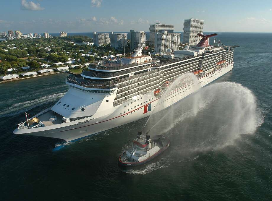 The Carnival Legend, a 2,100-passenger, 960-foot-long cruise ship arrives at Port Everglades in Fort Lauderdale, Fla., in this Nov. 8, 2002 file photo.>>Floating cities: The 15 biggest cruise ships in the world Photo: Andy Newman, Associated Press