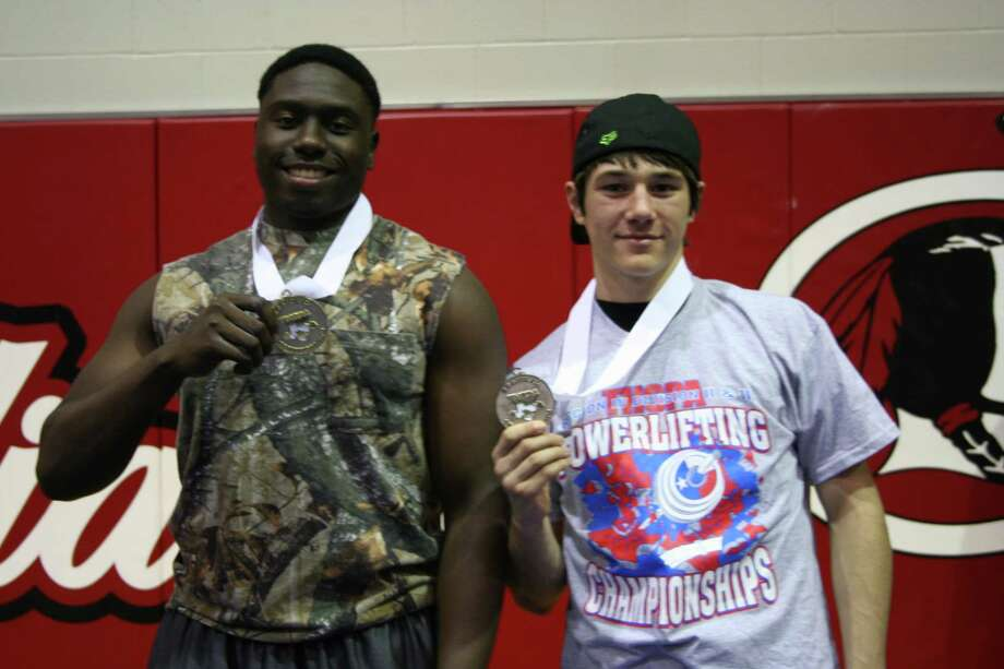 Kountze High School powerlifting students that qualified for State on March 22-23 in Abilene: Senior Ernest Hafford and Sophomore Colten Smith. Photo: Handout