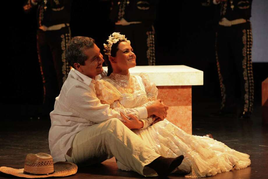 "Celia Duarte plays Renata and Octavio Moreno is Laurentino in ""Cruzar la Cara de la Luna."" Photo: Felix Sanchez"