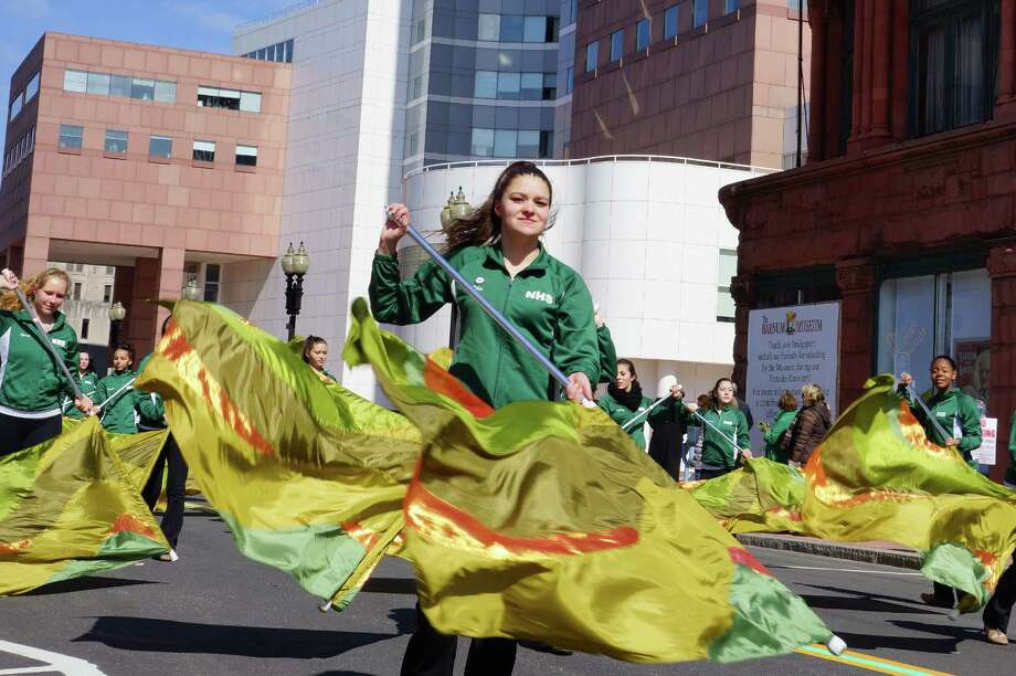 A Mass and flag raising lead into Bridgeport's St. Patrick's Day parade, held Monday, March 17. The parade kicks off at noon. Click here for the full slate of events. Photo: Todd Tracy/ Hearst Connecticut Media Group