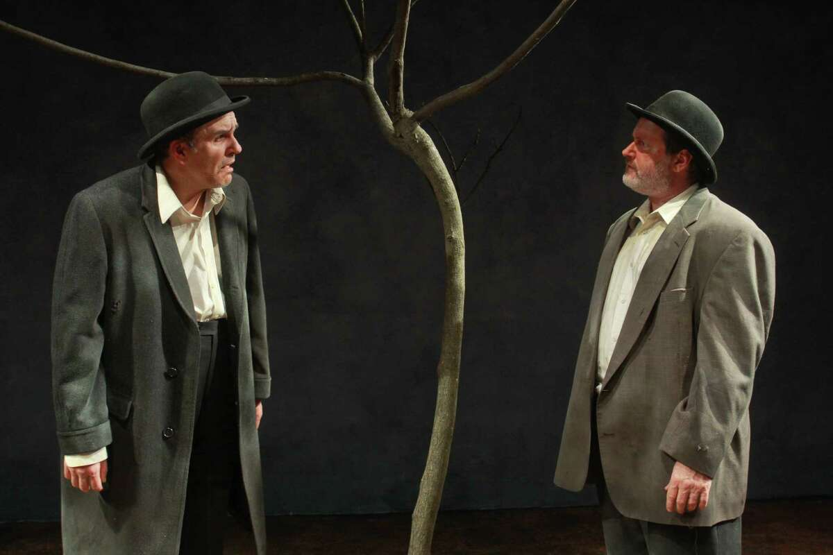 """(For the Chronicle/Gary Fountain, March 13, 2013) Greg Dean as Vladimir, left, and Charlie Scott as Estragon, in this scene from Catastrophic Theatre's """"Waiting for Godot."""""""