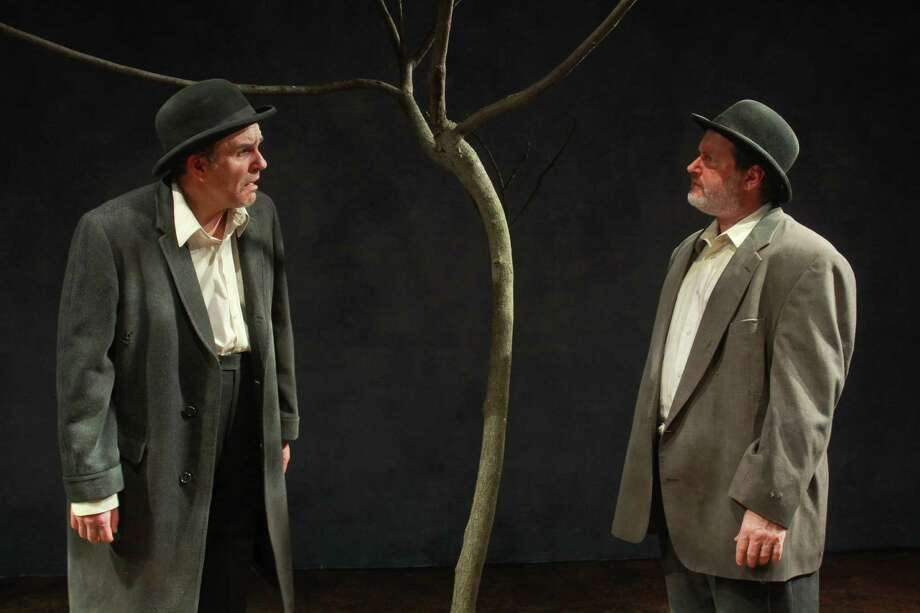 "(For the Chronicle/Gary Fountain, March 13, 2013) Greg Dean as Vladimir, left, and Charlie Scott as Estragon, in this scene from Catastrophic Theatre's ""Waiting for Godot."" Photo: Gary Fountain, Freelance / Copyright 2013 Gary Fountain."