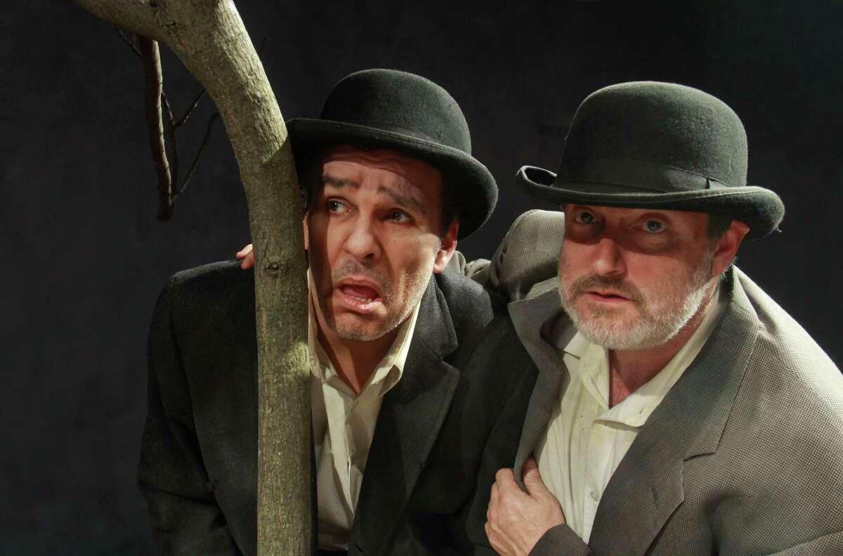 Vladimir (Greg Dean) and Estragon (Charlie Scott) in Catastrophic Theatre's 2013 production of