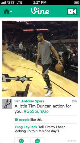 The official Vine profile of the San Antonio Spurs offers clips of players warming up. Photo: Vine