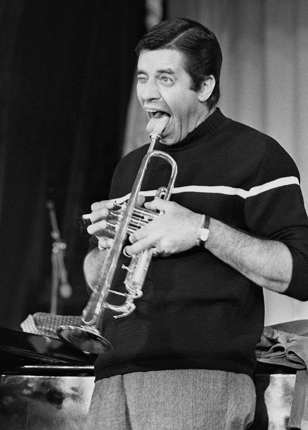 Entertainer Jerry Lewis, rehearsing his show in 1974 at l'Olympia in Paris, has his fans in the U.S. In France, however, he is revered as a comic genius.