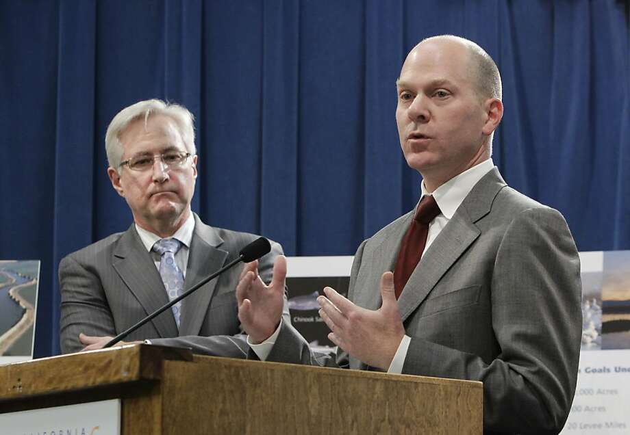 Mark Cowin, head of state water resources, put his agency's spin on the draft plan. Photo: Rich Pedroncelli, Associated Press