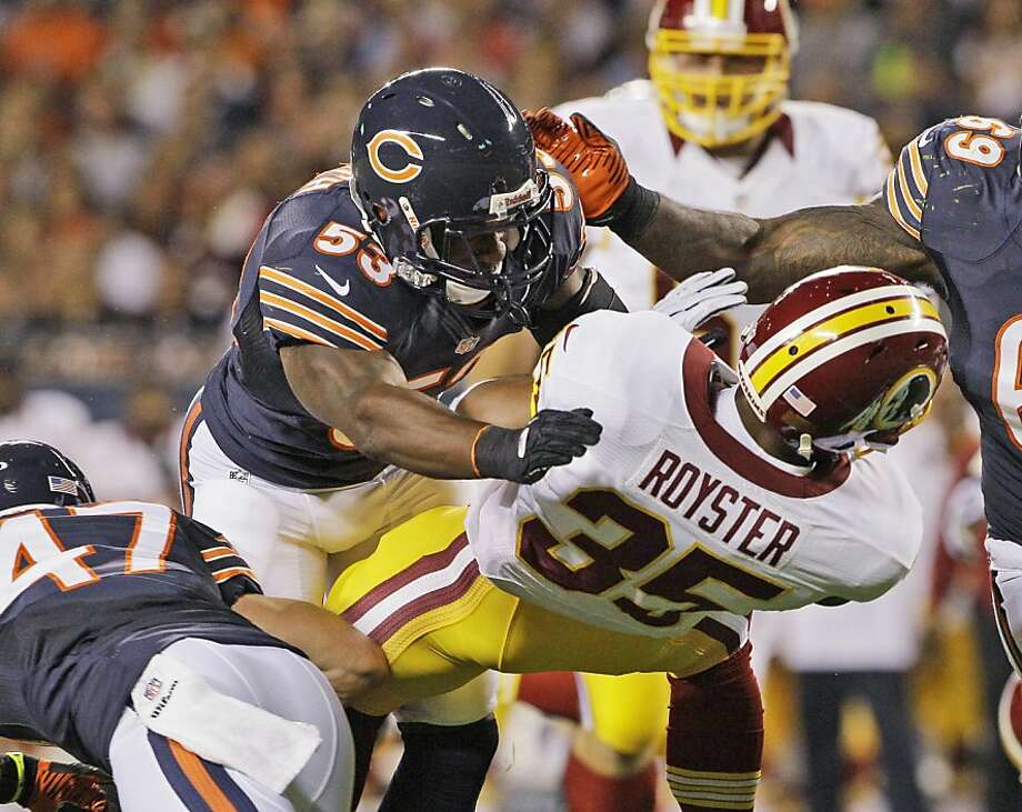 Nick Roach played 66 percent of the Bears' snaps last season. Photo: Nam Y. Huh, Associated Press