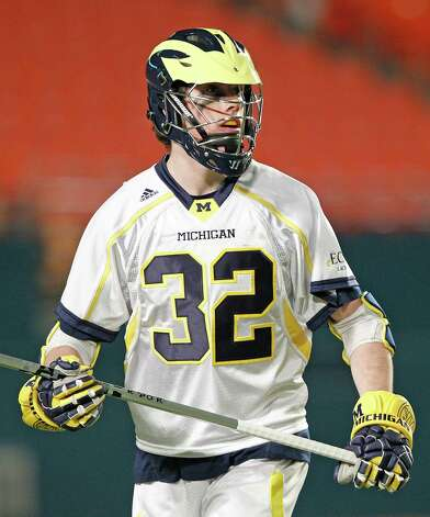 MIAMI GARDENS, FL - MARCH 2: Charlie Keady #32 of the Michigan Wolverines looks on during first half action against the Army Black Knights during the 2013 Orange Bowl Lacrosse Classic on March 2, 2013 at SunLife Stadium in Miami Gardens, Florida. Army defeated Michigan 12-1. (Photo by Joel Auerbach/Getty Images) Photo: Joel Auerbach, Getty Images / 2013 Joel Auerbach