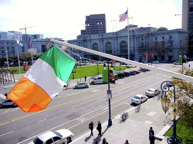 Mayor Ed Lee raised the Irish Flag at City Hall to celebrate Irish American Friendship & Heritage Week in San Francisco.