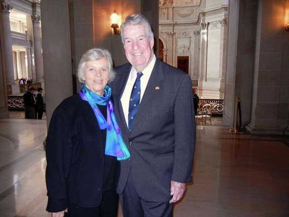 Lina and John Farrell at City Hall.