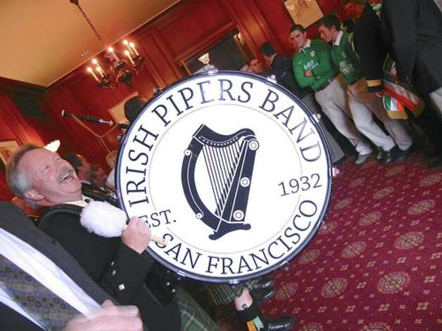 The Irish Piper Band of San Francisco has been working overtime during this merry month of March.