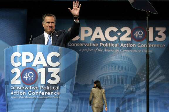 "Former Republican presidential candidate Mitt Romney told attendees at the Conservative Political Action Conference that he was disappointed in losing the 2012 election, but added that ""I utterly reject pessimism."""