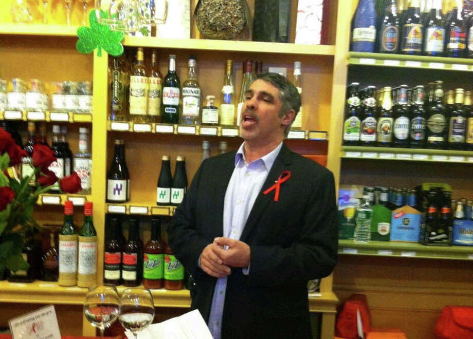 """Howard Stern Show"" producer Gary Dell'Abate speaks at The Red Ribbon Foundation's inaugural event at WineWise on Wednesday night. Photo: Contributed Photo"