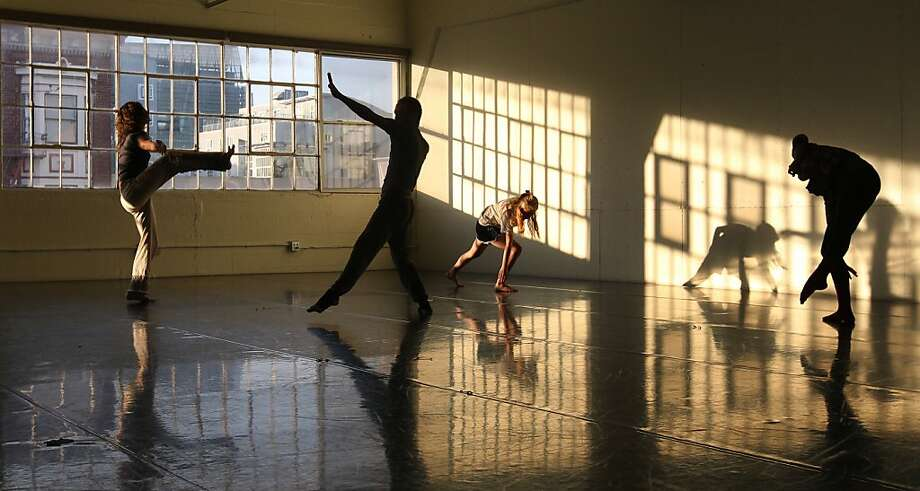 Dance instructor James Graham, second from left, leads his new dance class, Gaga at the San Francisco Conservatory of Dance Tuesday, March 12, 2013, in San Francisco Calif. Photo: Lance Iversen, The Chronicle