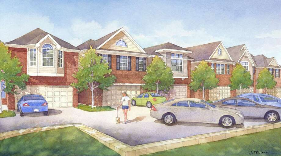 Sandcastle Homes' Shady Acres gated development will be a collection of two-story homes that will have about 2,500 square feet each. Photo: Sandcastle Homes