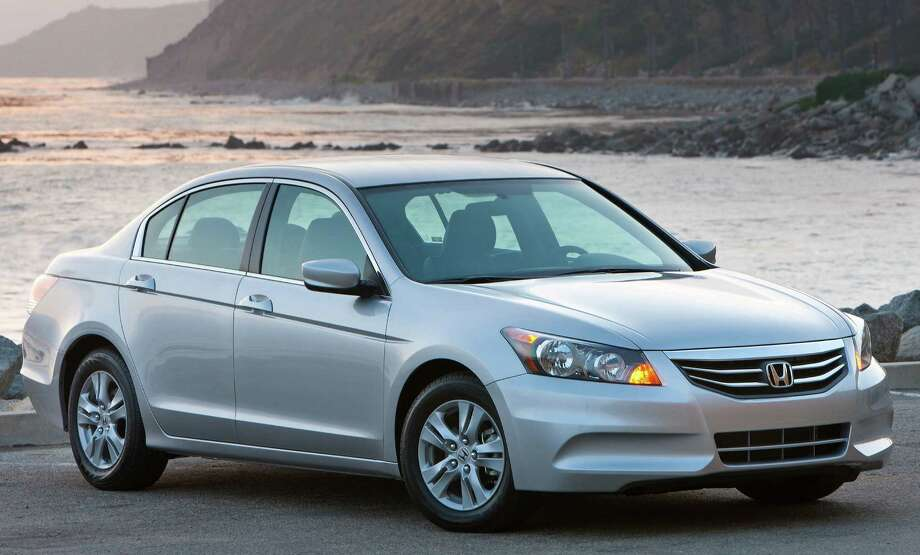 Honda, its Accord SE shown here, had the most efficient fleet with an average mpg of 26.4 for 2012 models. Photo: Honda