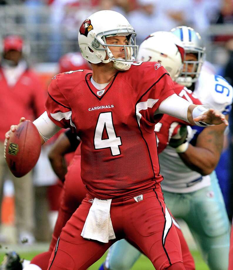 Quarterback Kevin Kolb, who was cut by Arizona on Friday, was plagued by injuries and inconsistent play during his two seasons with the Cardinals. Photo: Ross D. Franklin, STF / AP