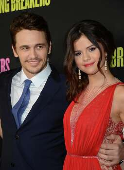 Actors James Franco and Selena Gomez attend the 'Spring Breakers' premiere at ArcLight Cinemas on March 14, 2013 in Hollywood, California. Photo: Jason Merritt, Getty Images / 2013 Getty Images