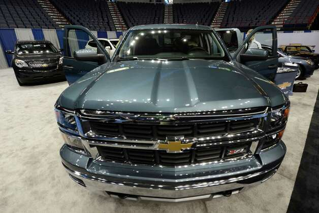 GM shows off their new pickup truck March 15, 2013 at the car show at the Times Union Center in Albany, N.Y.   (Skip Dickstein/Times Union) Photo: SKIP DICKSTEIN / 10021526A