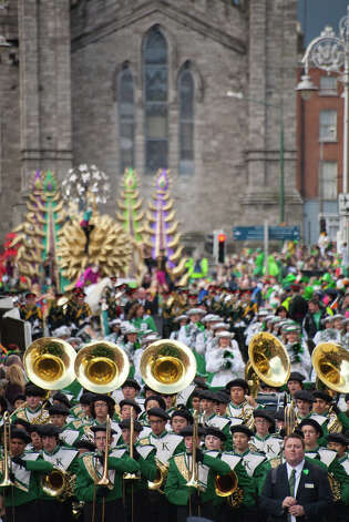 IRELAND: The leaders of this parade during the St. Patrick's Festival in Dublin seem to be counting on superior firepower up front.