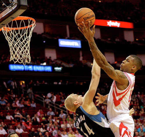 March 15: Rockets 108, Timberwolves 100Houston overcame a double-digit deficit to rally and defeat Minnesota.Record: 36-30. Photo: Bob Levey / ©2013 Bob Levey