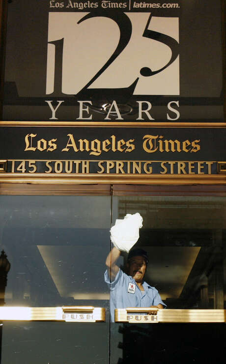 """Federal authorities allege that Reuters editor Matthew Keys provided hackers with login information to access the computer system of the Tribune Co., which owns the Los Angeles Times, in December 2010. Authorities say a hacker with the group Anonymous then altered a Times news story to read """"Pressure builds in House to elect CHIPPY 1337,"""" a reference to another hacking group. Photo: Associated Press File Photo"""