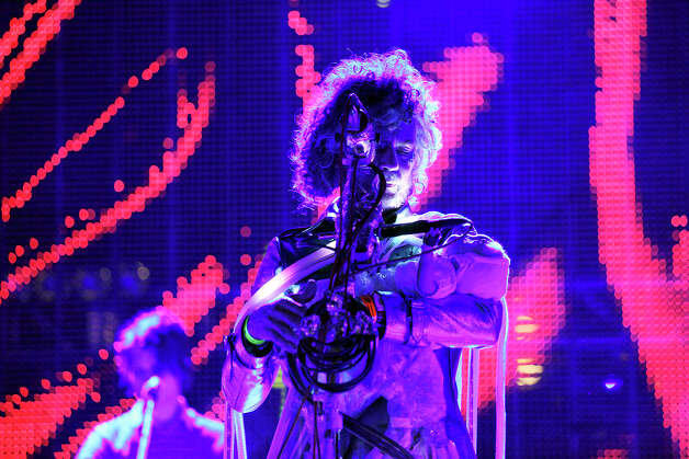 The Flaming Lips' Wayne Coyne performs with the band at Auditorium Shores during South by Southwest Friday March 15, 2013 in Austin, TX. Photo: Edward A. Ornelas, San Antonio Express-News / © 2013 San Antonio Express-News
