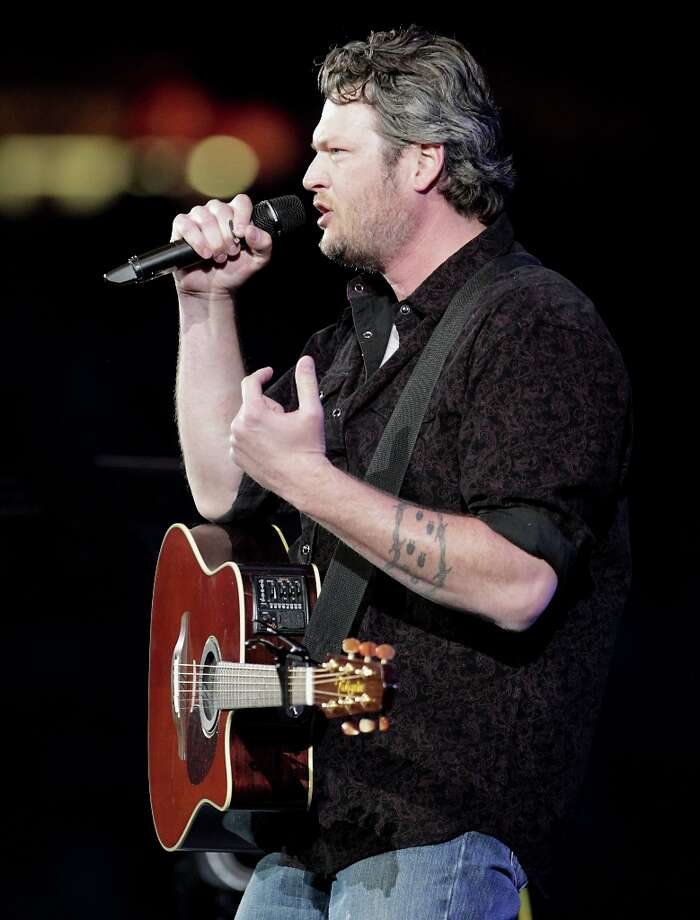 Blake Shelton performs in concert at RodeoHouston in Reliant Stadium Friday, March 15, 2013, in Houston.  Photo: James Nielsen, Houston Chronicle / © 2013  Houston Chronicle