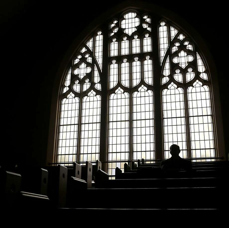 A man sits alone in a church balcony as he listens to a Lenten organ concert at First Presbyterian Church in Wausau, Wis., Friday, March 15, 2013. (AP Photo/The Wausau Daily Herald, Dan Young) Photo: Dan Young, Associated Press