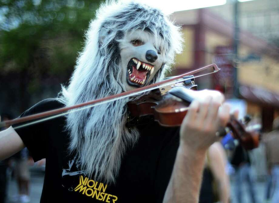 You can see this guy every year at SXSW. Keep Austin weird!  Photo: Michael Buckner, Staff / 2013 Getty Images