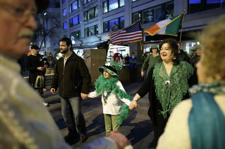 Participants dance at Westlake Park. Photo: JOSHUA TRUJILLO / SEATTLEPI.COM