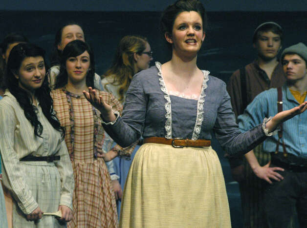 "Jessica Bowe as Nettlie Fowler in New Milford's High School's all-school musical production of Rodgers & Hammerstein's ""Carousel,"" March 2013 Photo: Norm Cummings"