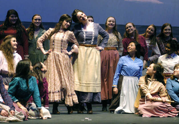 "New Milford's High School's all-school musical production of Rodgers & Hammerstein's ""Carousel,"" March 2013 Photo: Norm Cummings"