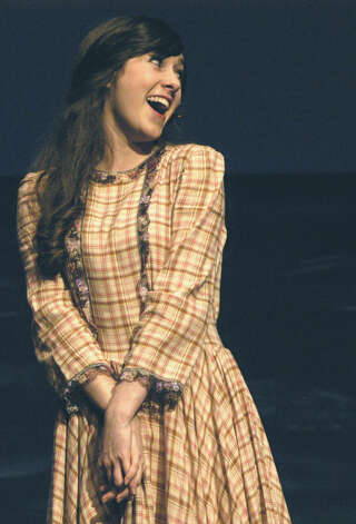 "Jaclyn Mercer as Carrie Pipperidge in New Milford's High School's all-school musical production of Rodgers & Hammerstein's ""Carousel,"" March 2013 Photo: Norm Cummings"