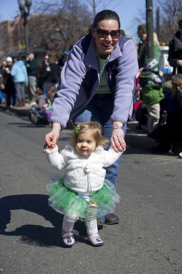 No. 29: Stamford.The city of Stamford has the second smallest percentage of resident claiming an Irish ancestry in Southwestern Connecticut, at 9.6 percent. Gianna Zezima, who will be 1 on St. Patrick's Day, walks with her mother, Kathleen, before Saturday's parade in Stamford, Conn., on March 9, 2013.