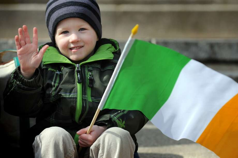 No. 24: Stratford.The town of Stratford has the 24th largest percentage of resident claiming an Irish ancestry in Southwestern Connecticut, at 16 percent. Miles Montrasio, 4, of Stratford, enjoys the annual Greater Bridgeport St. Patrick's Day Parade, in Bridgeport, Conn., March 15th, 2013.