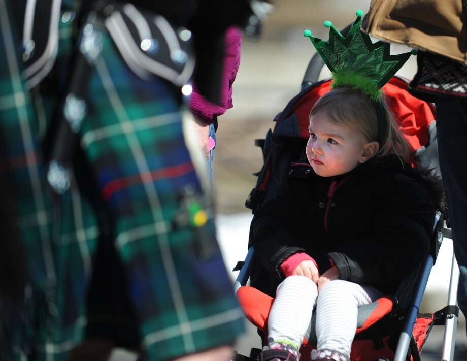 No. 20: Seymour.The town of Seymour has the 20th largest percentage of resident claiming an Irish ancestry in Southwestern Connecticut, at 18.9 percent. Three-year-old Rylan Mastroni, of Seymour, watches the marchers during the annual St. Patrick's Day Parade in downtown Milford, Conn. Saturday, Mar. 9, 2013.