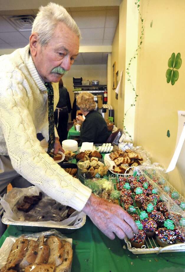 No.11: Newtown.The town of Newtown has the 11th largest percentage of resident claiming an Irish ancestry in Southwestern Connecticut, at 23 percent. Jack Farrell, 86, of Newtown, has colored his mustache green for St. Patrick's Day. He chooses a dessert at the Greater Danbury Irish Cultural Center Saturday, March 17, 2012.