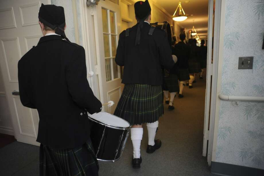 No. 7: Wilton. The town of Wilton has the seventh largest percentage of resident claiming an Irish ancestry in Southwestern Connecticut, at 23.7 percent. Greenwich Pipe Band members Drew Venditti, 18, left, and Beau McDowell, 18, both of Wilton, leaving the St. Patrick's Day parade at Nathaniel Witherell, on Thursday, March 17, 2011.